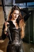 Black Dress Pumpgun Girl