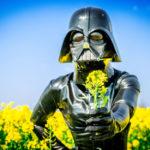 Fetish shot with a Darth Vader mask